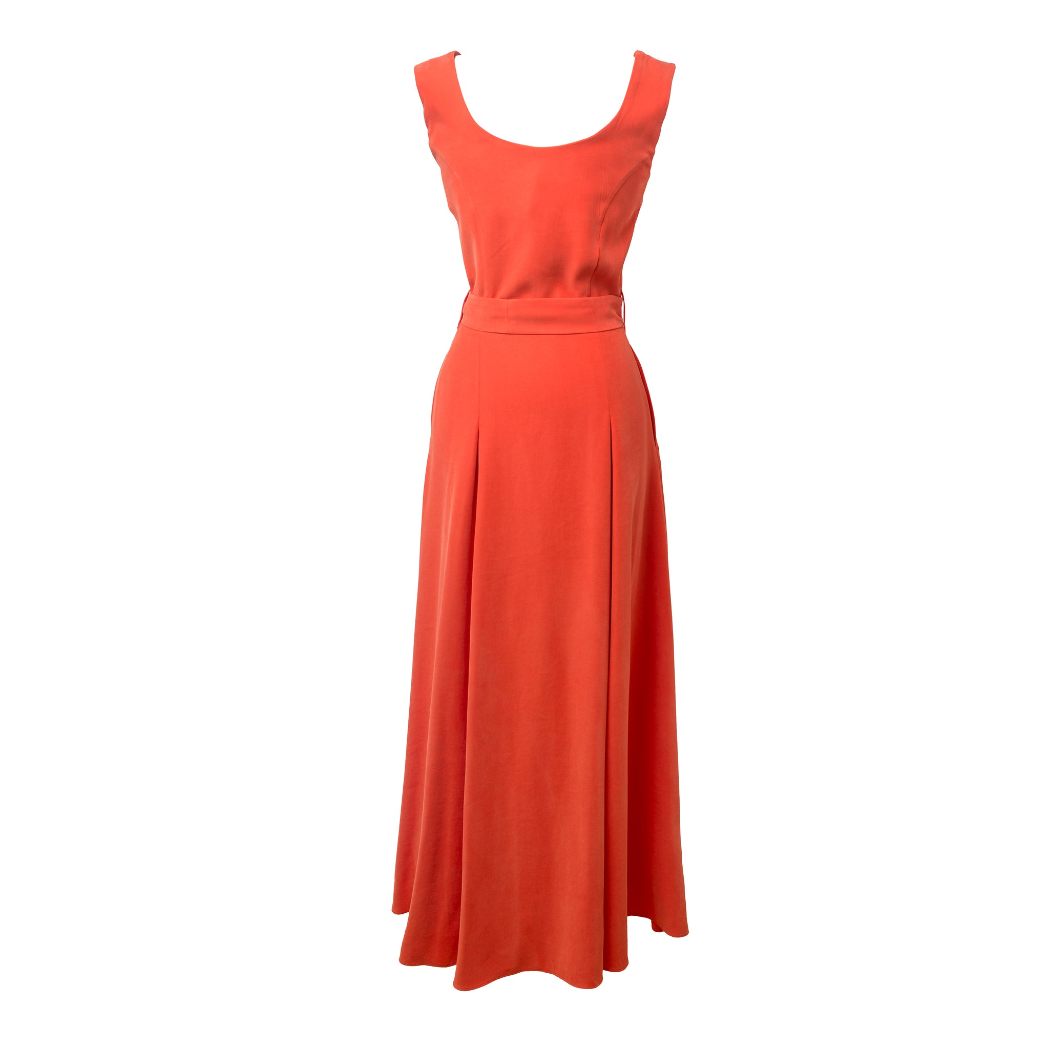 BALASTYA Salmon Multi Slits Dress