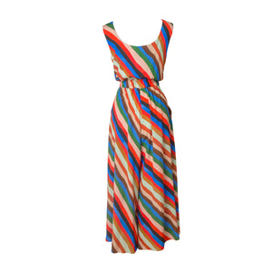 ZIRC Stripes Print Sleeveless Jumpsuit