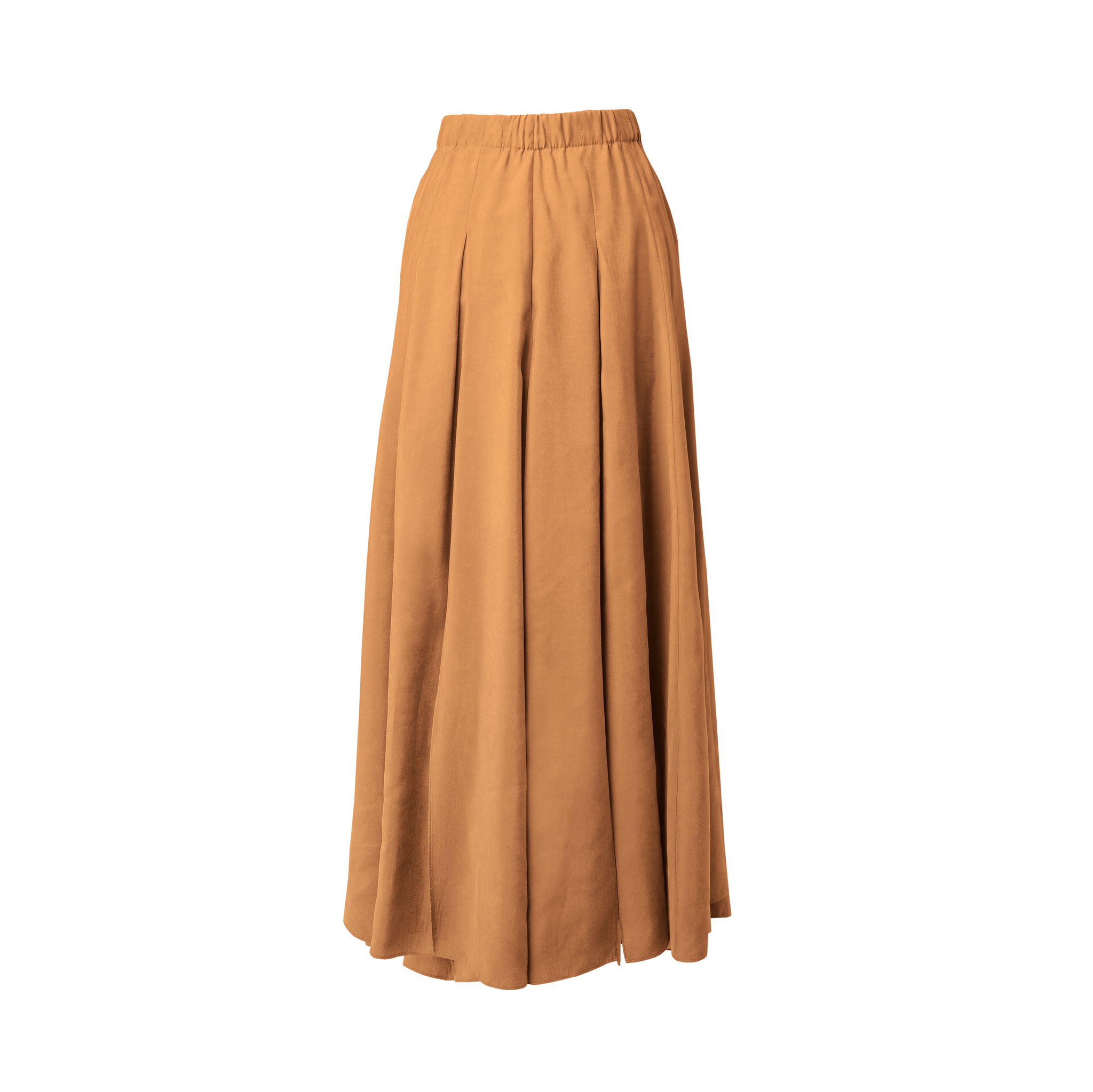 Vac Rust Multi Slits Midi Skirt