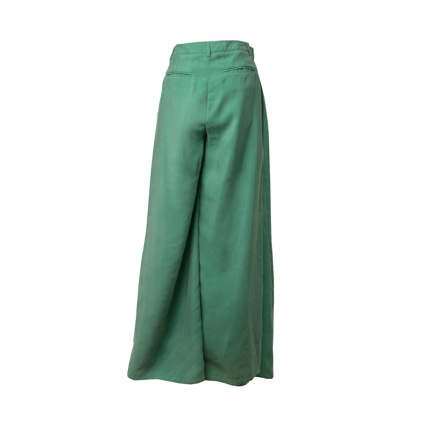 KECEL Lucky Green Fold Hem Trousers
