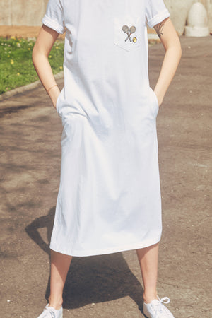 Evert White T-shirt Dress