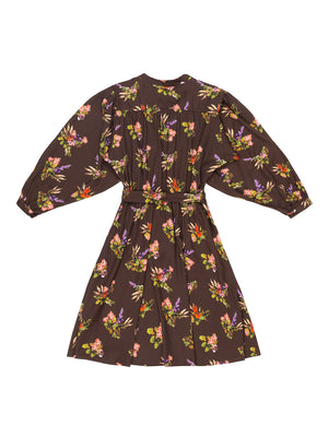 MARTA Lame Flower Print Tie Dress