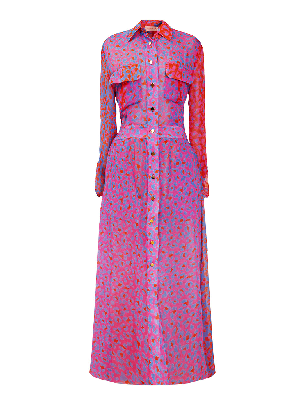 TAPOLCA long shirtdress 'blossom cheetah'