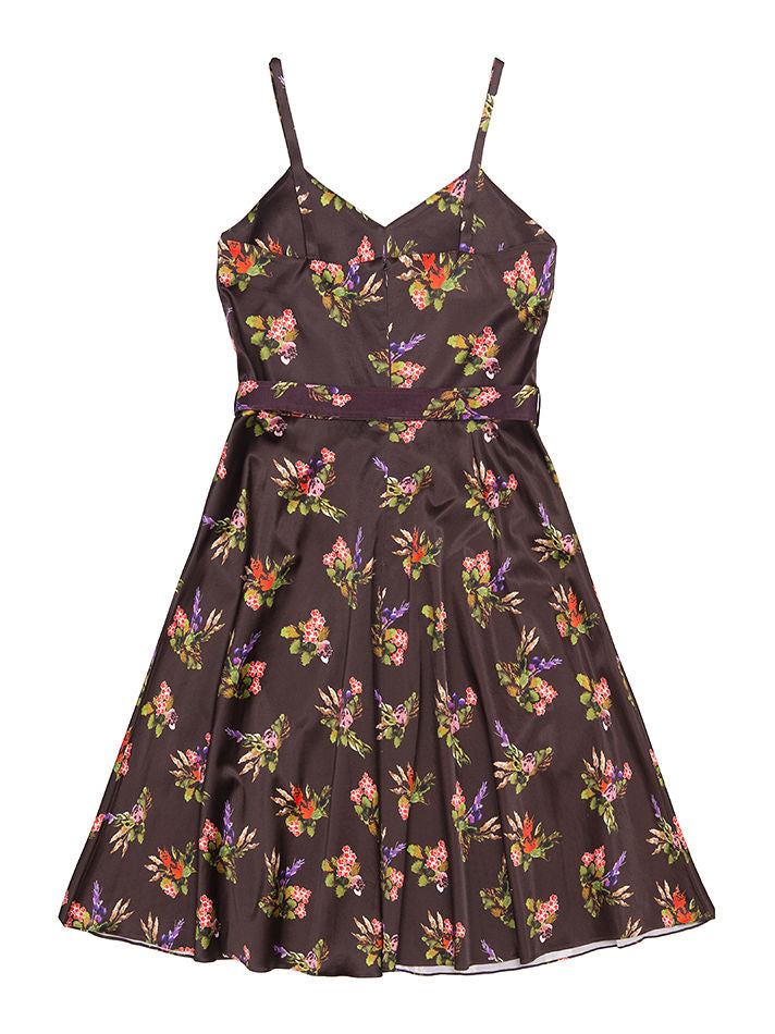 BAKU Lame Flower Print Dress