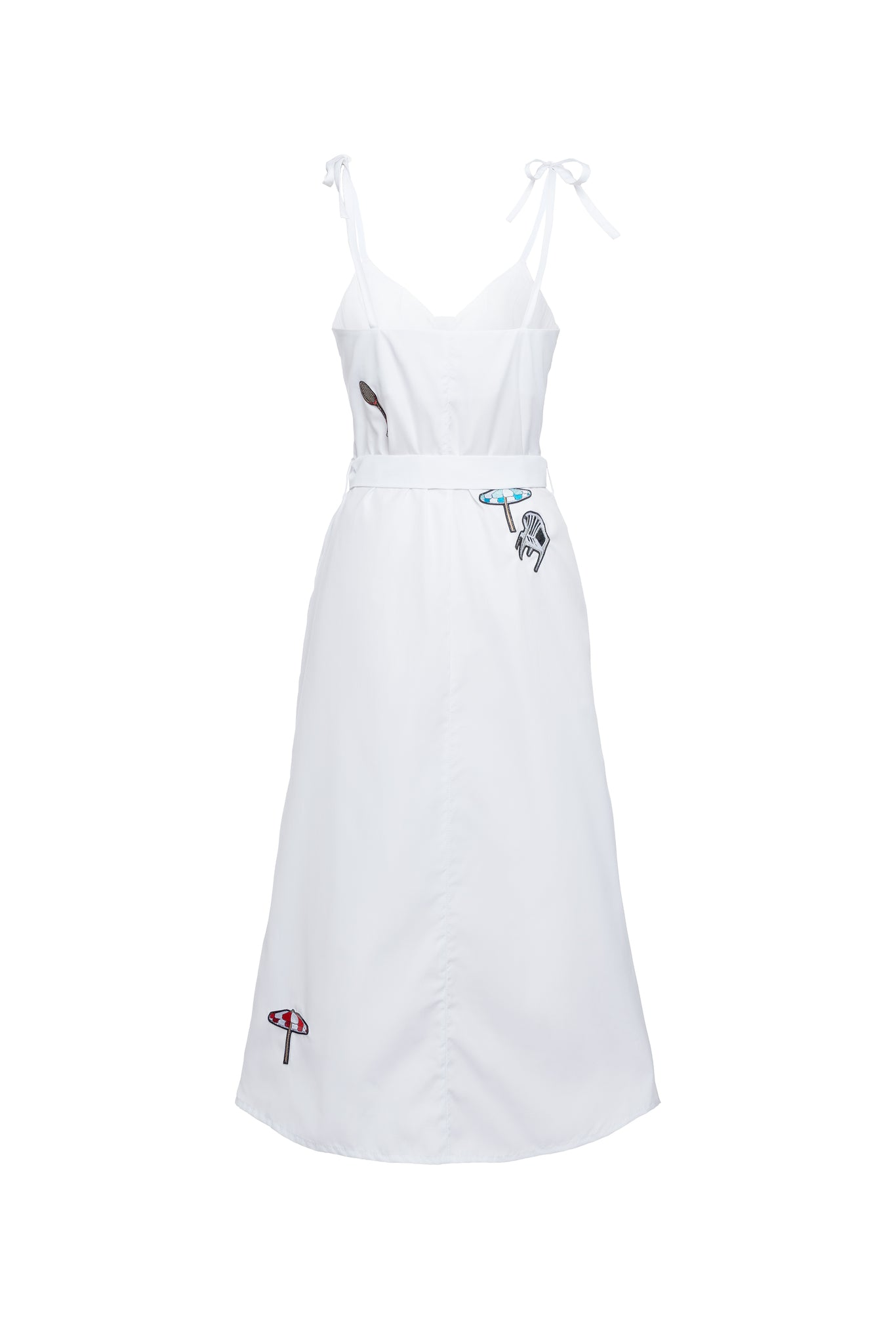 Stollar Tie Strap Dress With Badge Detail