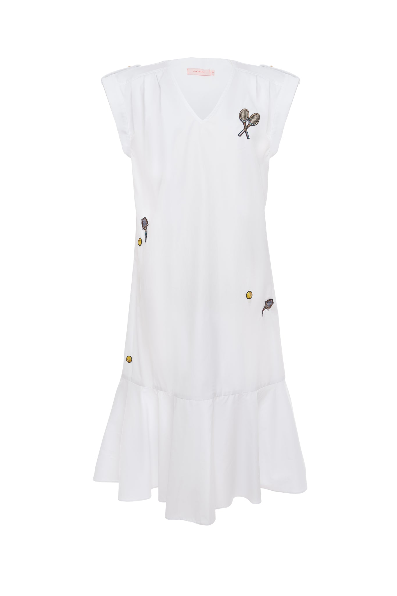 Williams Badge Detail Ruffle Tennis Dress
