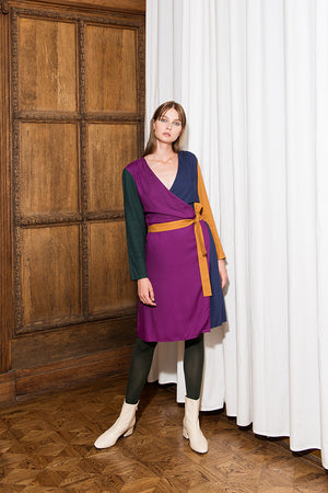 TEREZ Color Block Wrap Dress