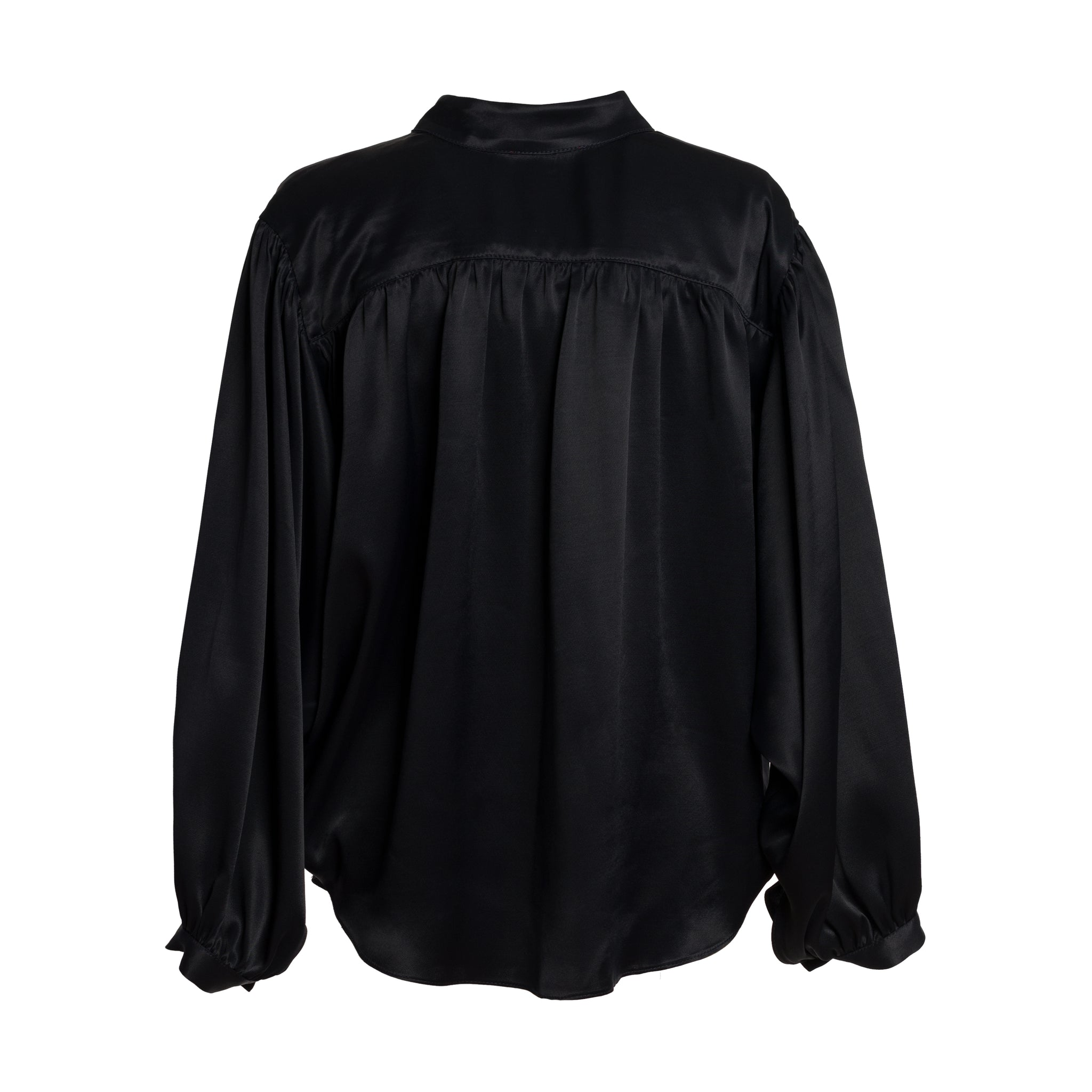 KOKI Black Gathered Shirt