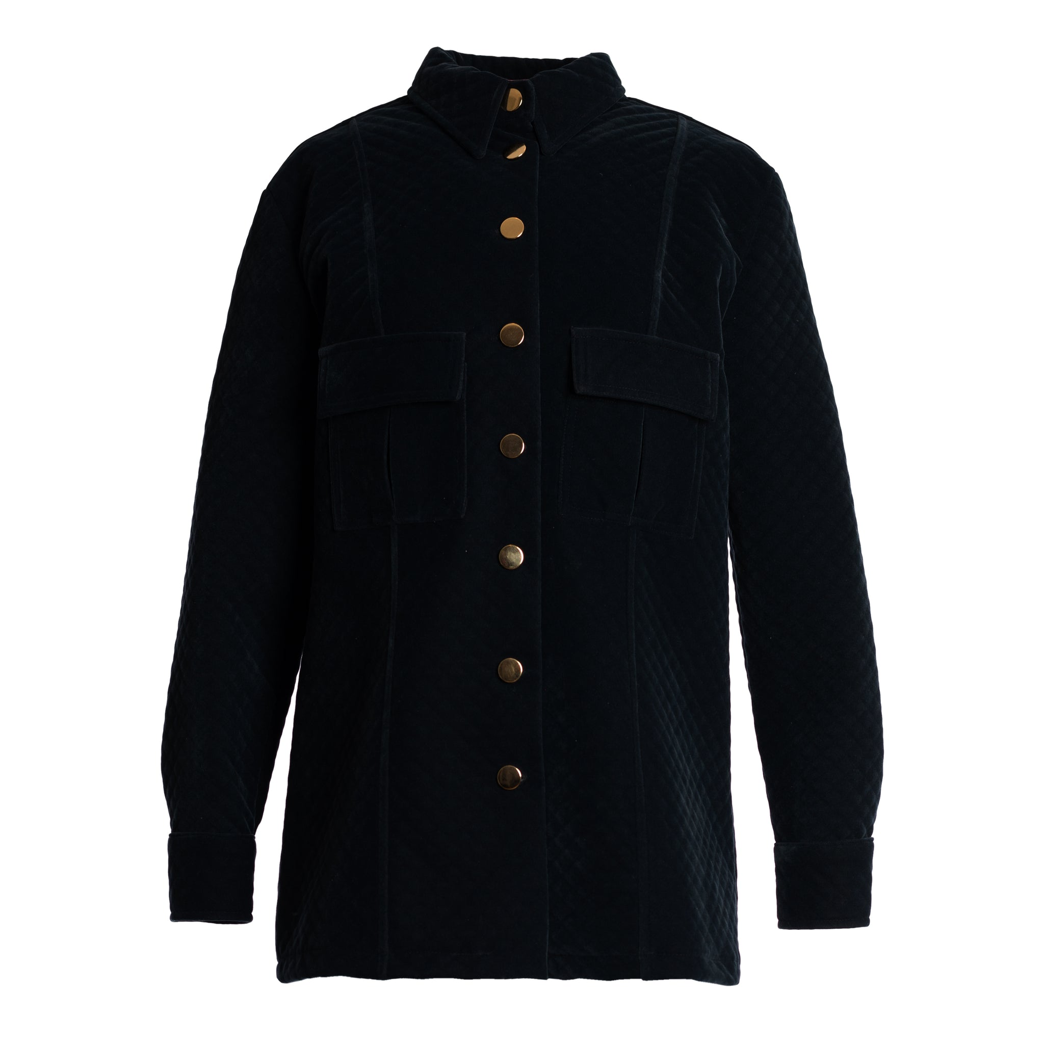 SKALA Velvet Shirt Jacket