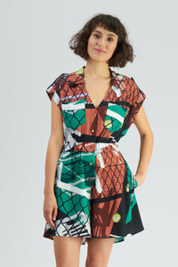 King Court Print Playsuit