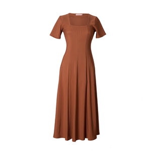 Capriati Rust Jersey Dress