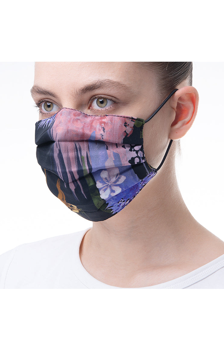 'Autumn flower' print mask 3 pieces
