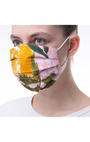 'Blurred flower' print mask 3 pieces