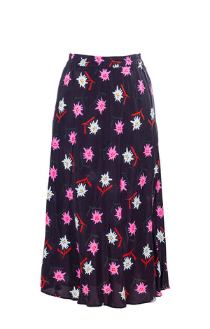 "CINEGE bias-cut skirt ""edelweiss"""