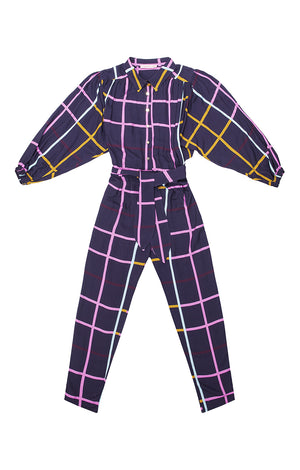 CSERHAT jumpsuit with gathered top 'checked'