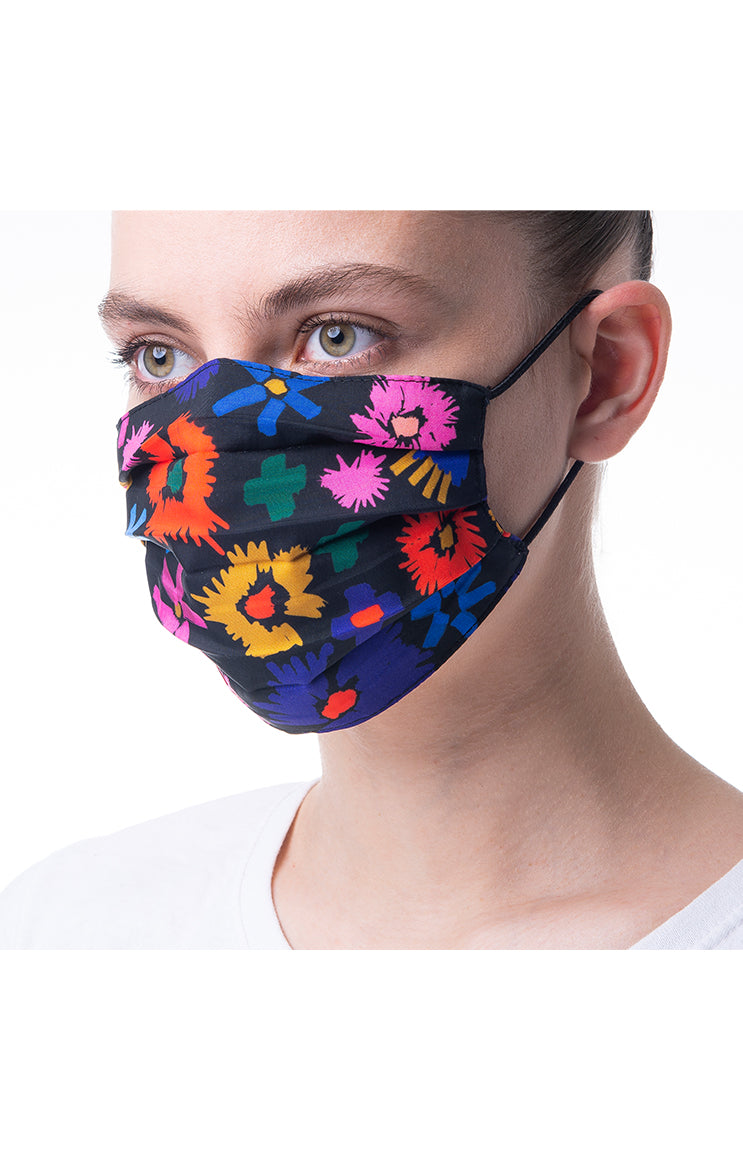 'Summer flower' print mask 3 pieces