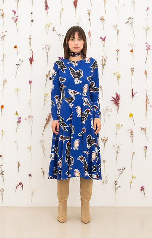 GALYA bat sleeve skirt dress 'big birds'