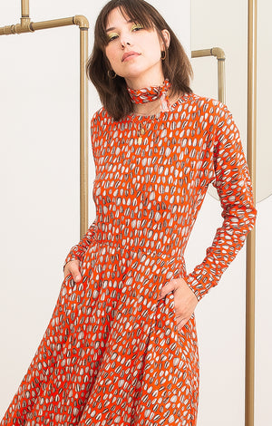 GALYA bat sleeve skirt dress 'seeds'