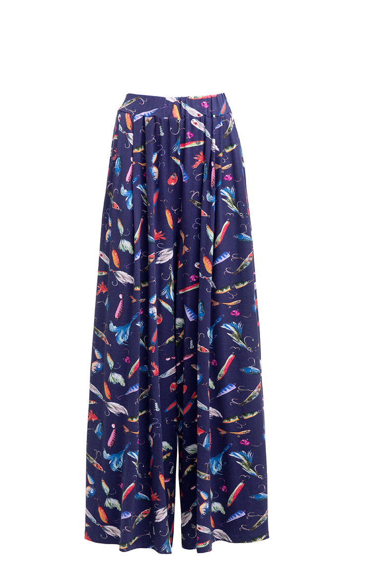 INGOLA wide leg trousers 'fishing lure'