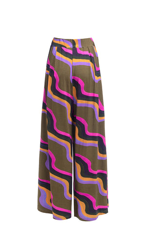 INGOLA wide leg trousers 'waves'