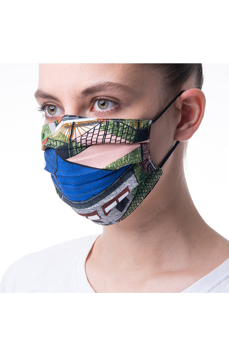 'House' print mask 3 pieces