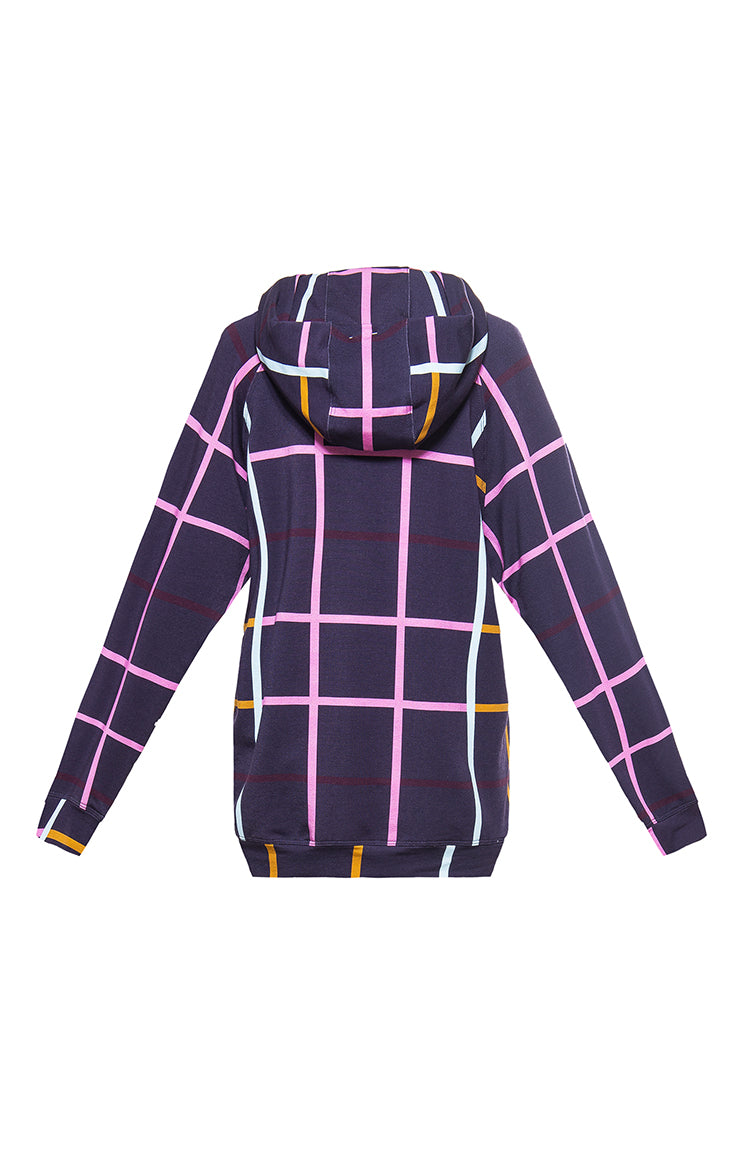 KEKES hooded sweatshirt 'checked'