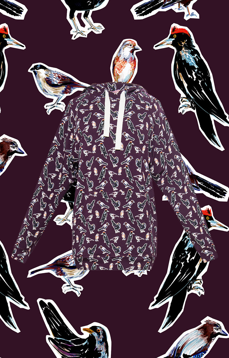 KEKES hooded sweatshirt 'small birds'