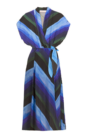 LOVRAN multi slits wrap dress 'stormy lake'