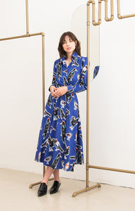 MATRA wrap dress 'big birds'