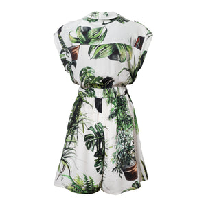 Plants Print Playsuit