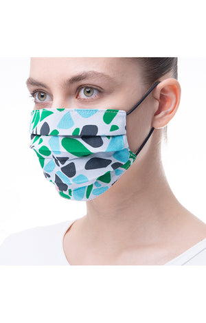 'Pebble' print mask 3 pieces