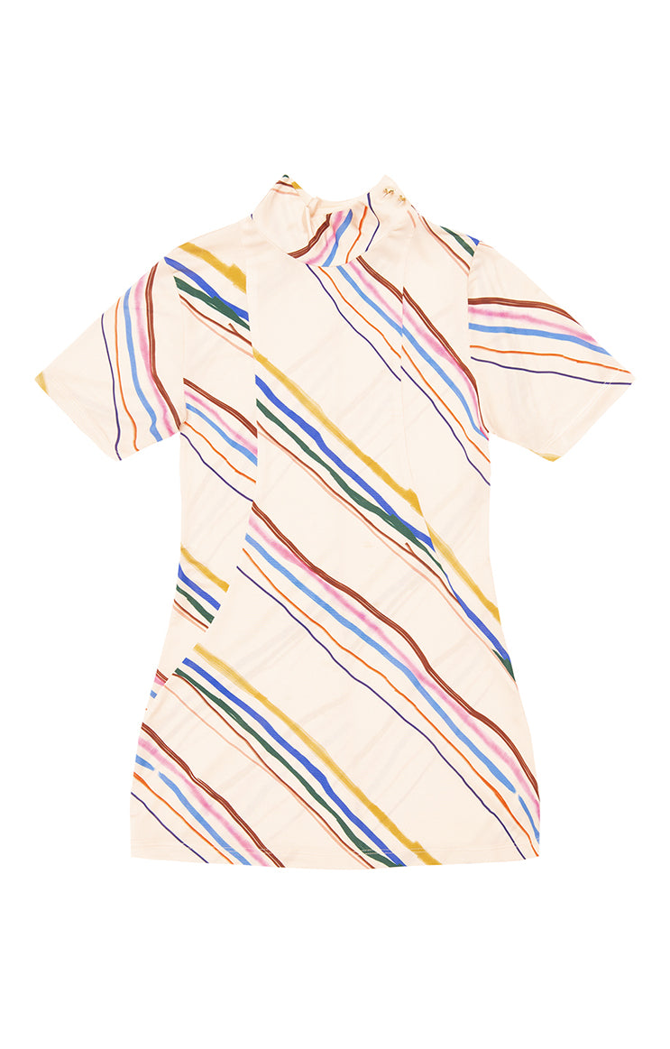 PART mock neck jersey top 'marker stripes'