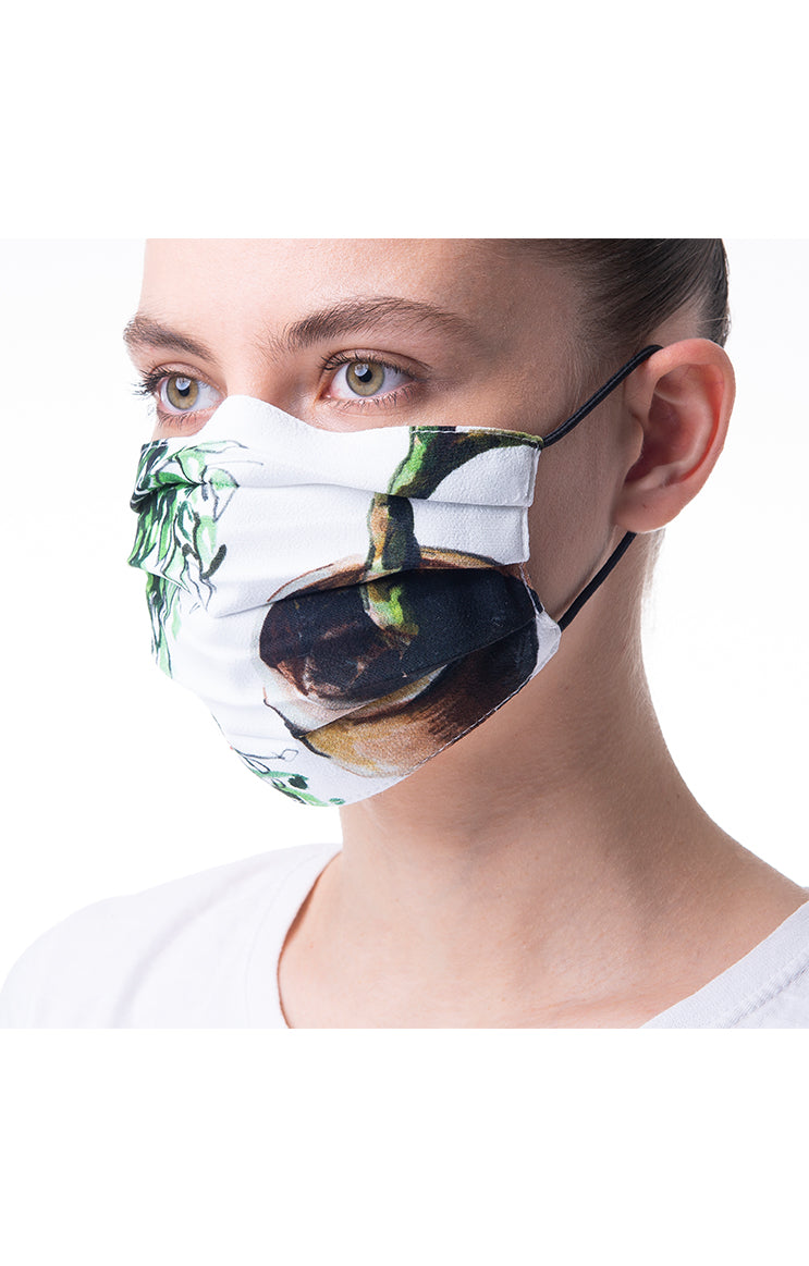 'Plants' print mask 3 pieces