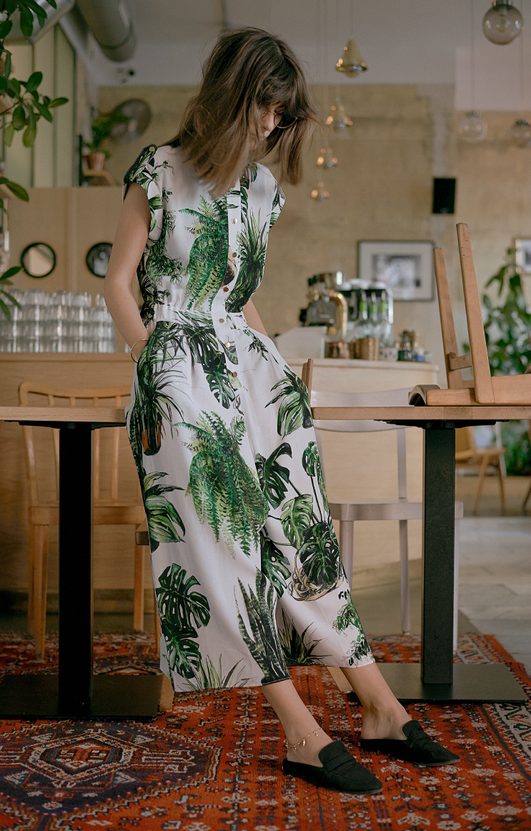 Plants Print Jumpsuit