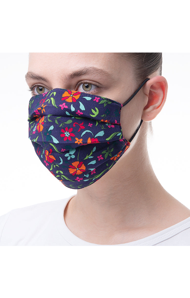 'Calendula' print mask 3 pieces