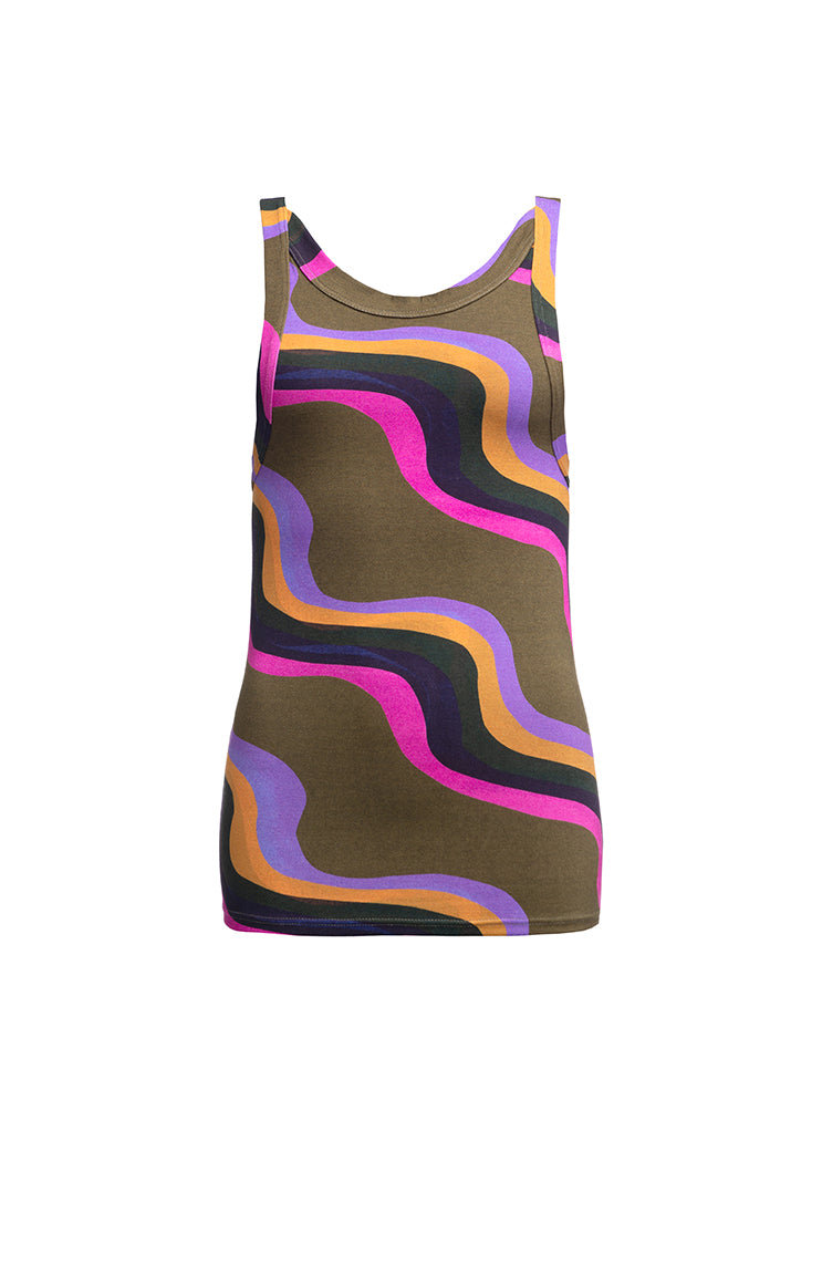 STRAND jersey cami top 'waves'