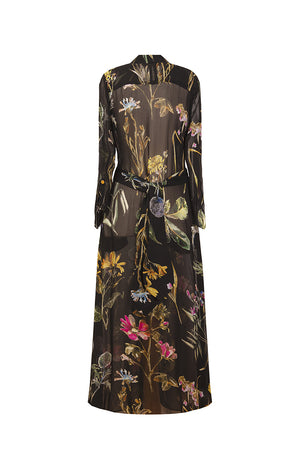 TAPOLCA long shirtdress 'dark botanical'