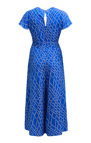 VIZA jumpsuit 'fishnet blue'