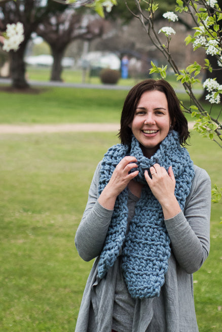 Merino Wool Bliss Scarf - Oatmeal