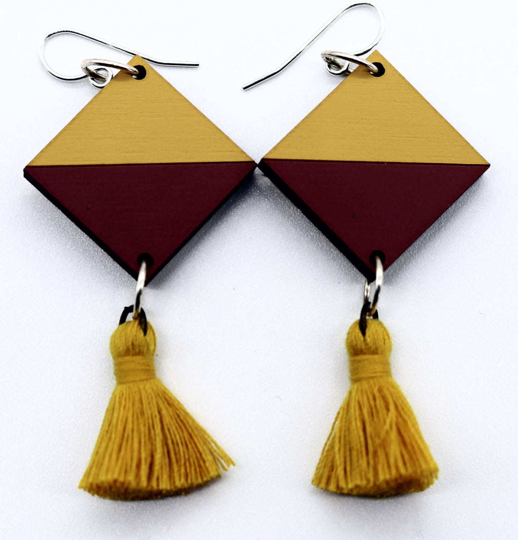 Tassel Earrings- Mustard & Marsala
