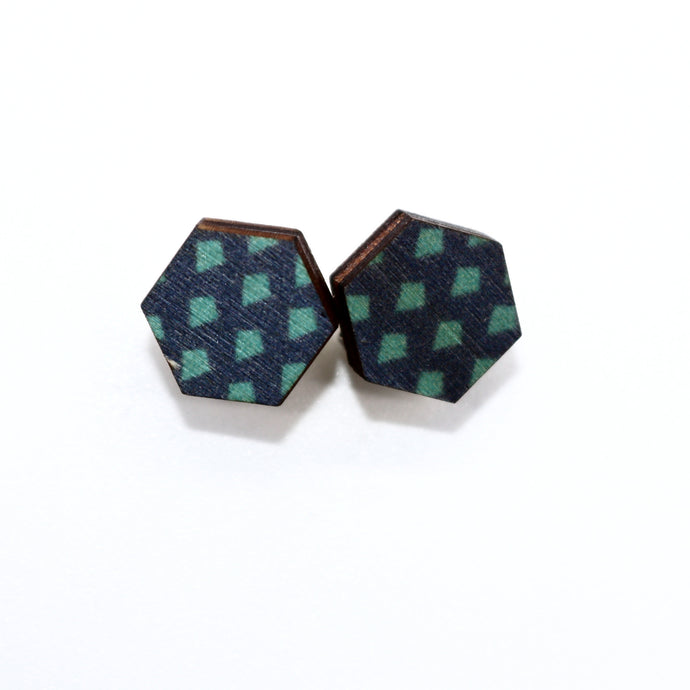 Hexagon Studs- Verity