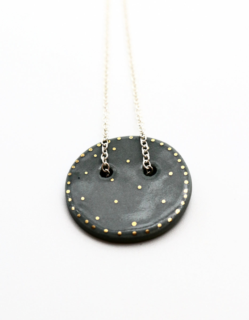 Sphere Pendant Necklace- Mid Grey