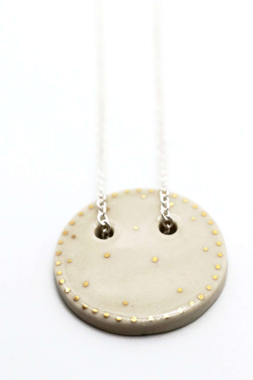 Sphere Pendant Necklace- White