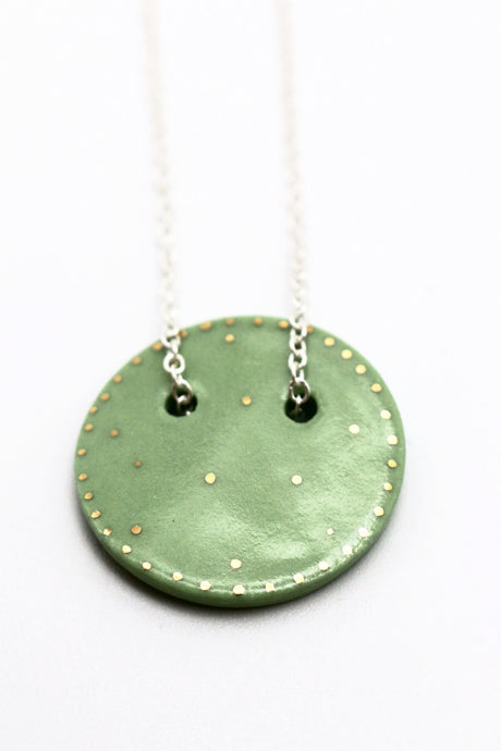 Sphere Pendant Necklace- Mint