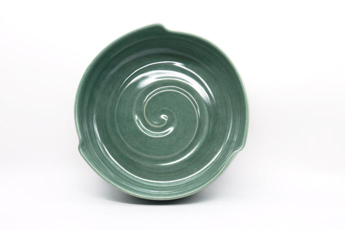 Ceramic Medium Triangle Bowl- Aqua