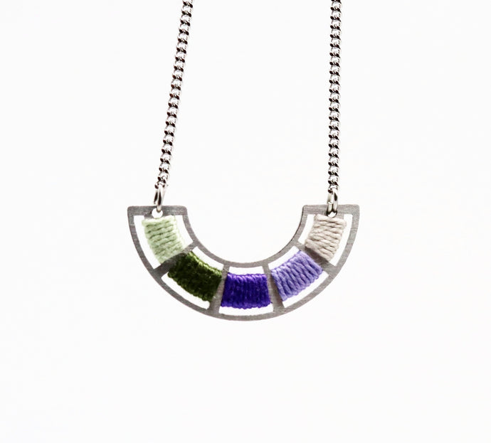 Colour Wheel Necklace- Violette
