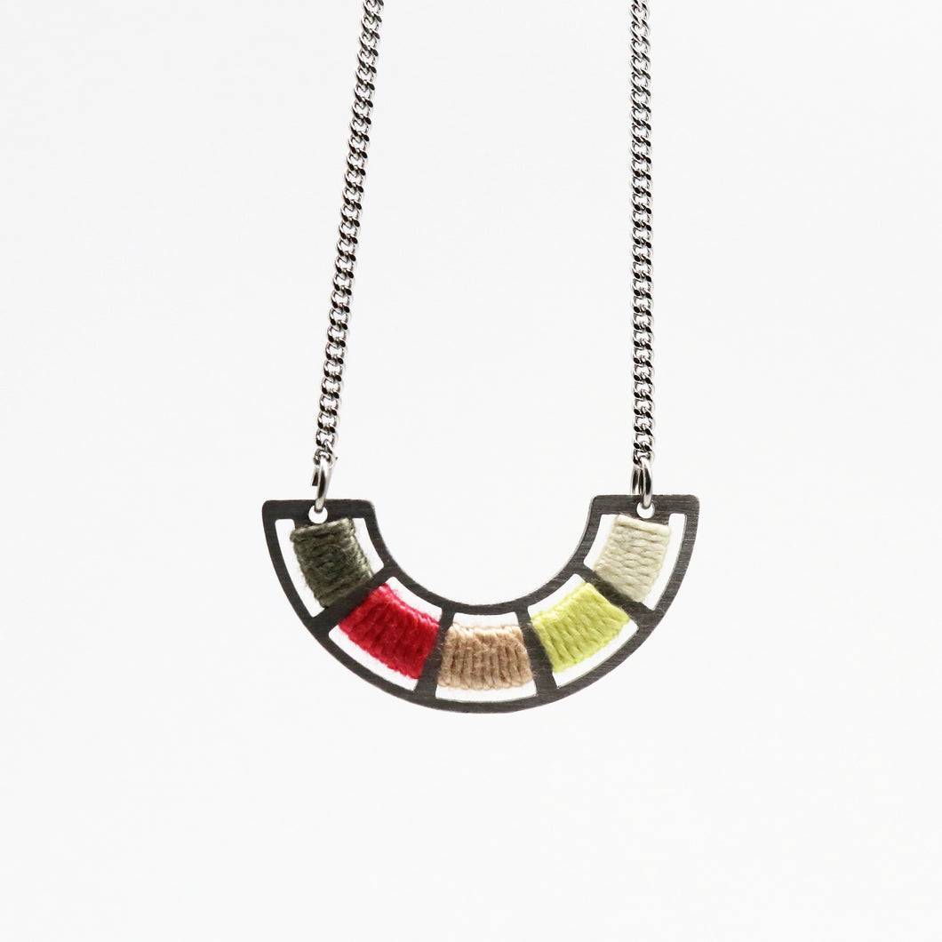 Colour Wheel Necklace- Tropical Punch