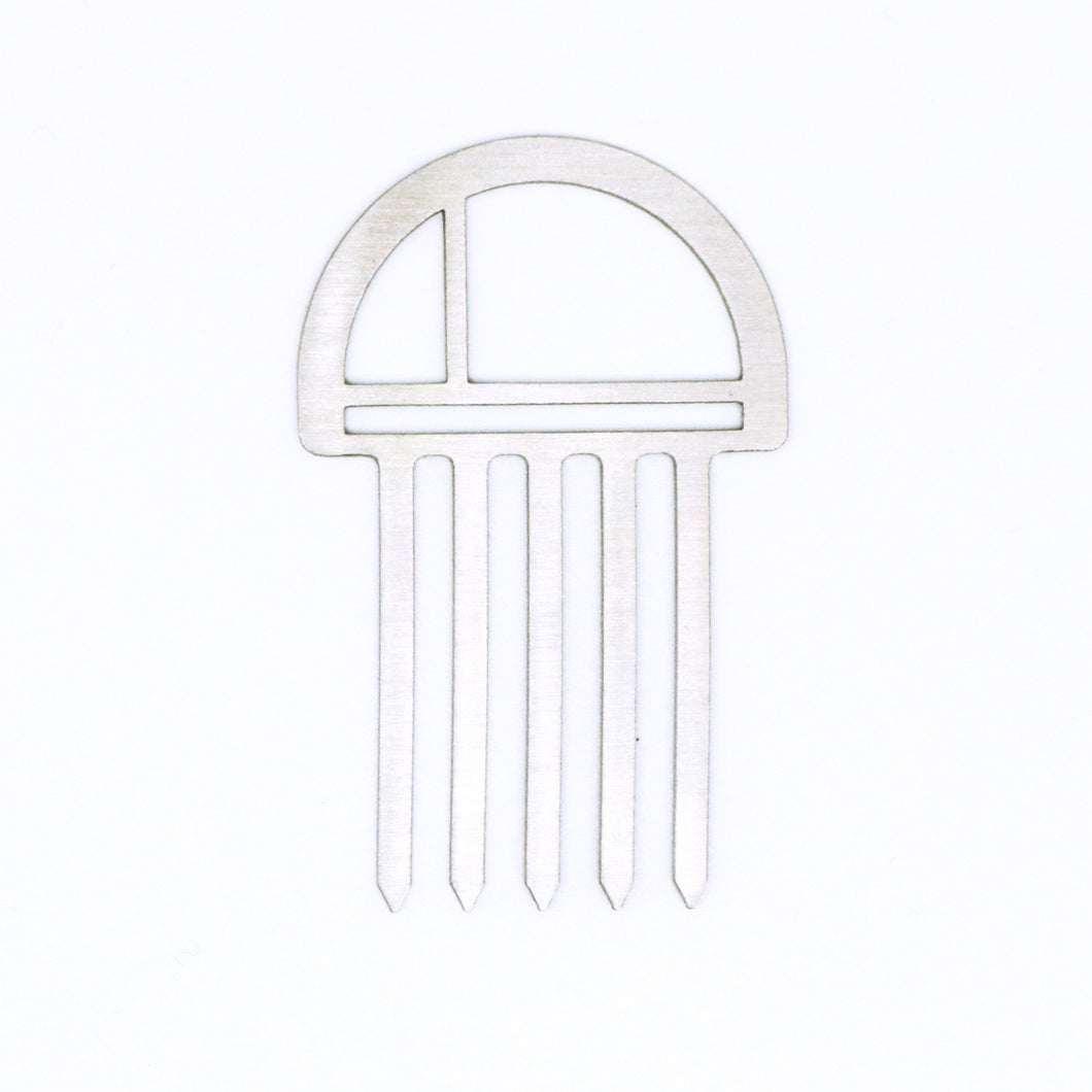 Mini Hair Comb- Circle