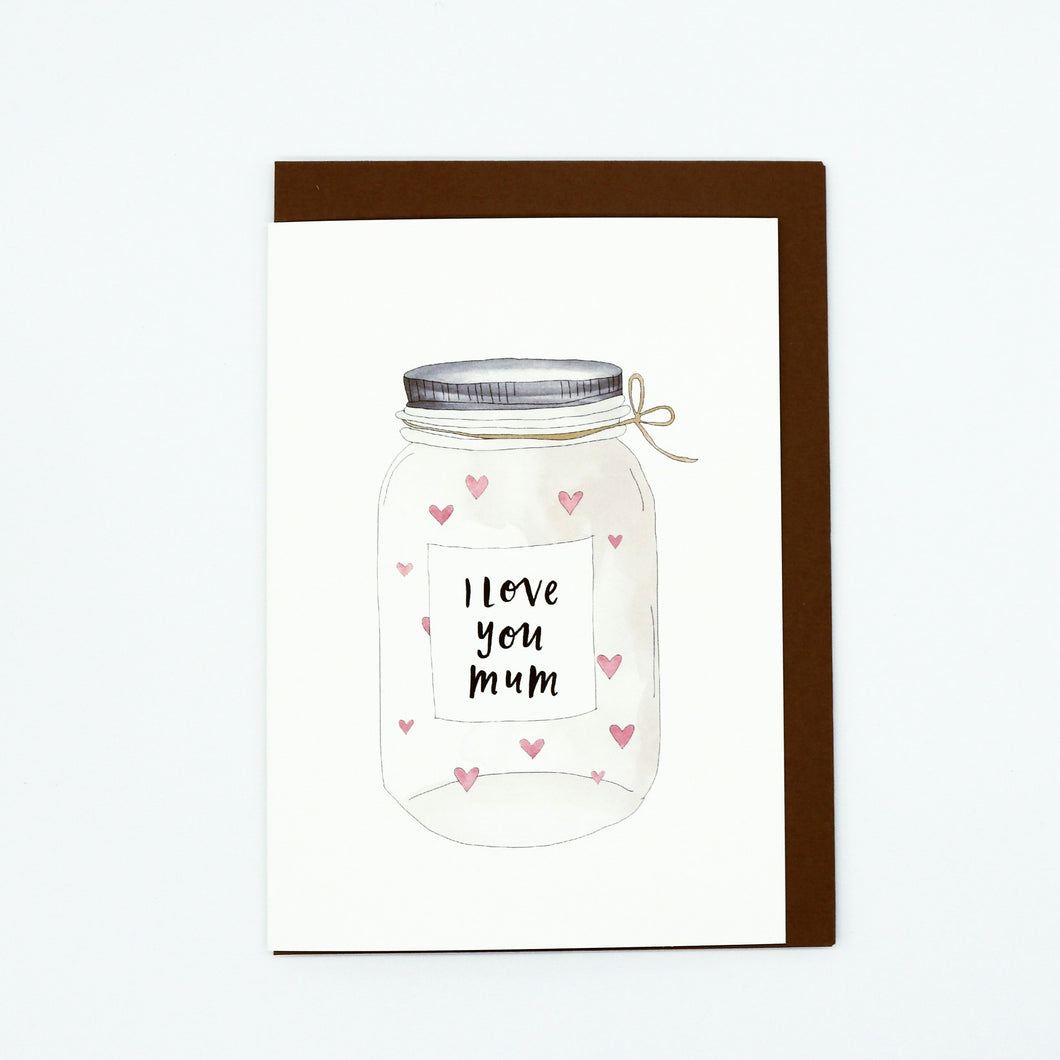 Jar Full of Love Greeting Card