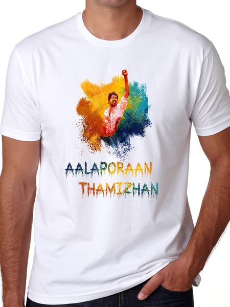Aalaporan Thamizhan Mersal Movie Song T-Shirt Vijay Multi Color Kollywood Cinema Tees